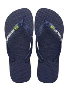 Havaianas Brazil Logo Jandals Navy